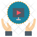 Online Video Watching Icon