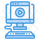 Online Video Website Icon