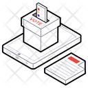 Online Voting E Voting Online Election Icon