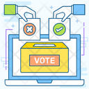 Online Voting Online Balloting Casting Vote Icon