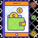 Online Wallet Purse Billfold Wallet Icon
