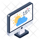 Online Weather Online Forecast Weather Application Icon