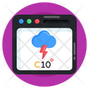 Overcast Online Weather Forecast Weather App Online Weather Overcast Icon