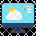 Online Weather Online Forecast Computer Icon