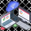 Online Web Analytics Data Analytics Cloud Data Analytics Icon
