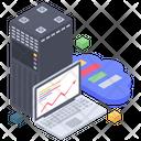 Online Web Analytics Data Analytics Statistics Icon