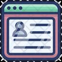 Account Login User Account Web Profile Icon