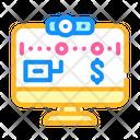 Online Tracker Freelancer Icon