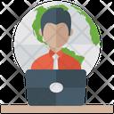 Online Work Ecommerce Web Work Icon