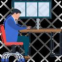 Online Work Online Assignment Online Homework Icon
