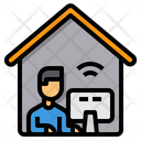Working At Home Office Elearning Icon