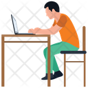 Online Working Online Assignment Home Office Icon