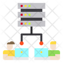 Working Laptop Networking Icon