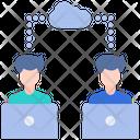 Online Working Laptop Computer Icon