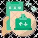 Online Working Upload Download Icon