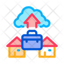 Remote Work Cloud Icon