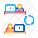 Internet Connection Employee Icon