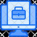 Online Working Portfolio Computer Icon