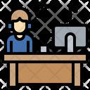 Online Working Worker Occupation Icon