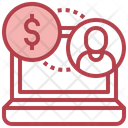Online Working Salary Icon