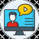 Online Workshop Web Conferencing Online Conference Icon