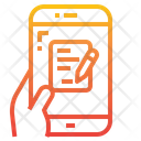 Writing Pencil Smartphone Icon
