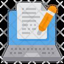 Online Writing Blog Icon