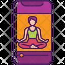Online Yoga Meditation Smartphone Icon