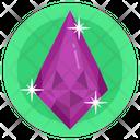 Onyx Gemstone Diamond Emerald Icon