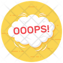 Oops Expression Exclamatory Word Icon