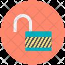 Open Padlock Safety Icon