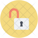 Open Padlock Safety Icon
