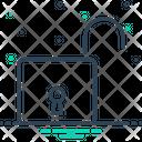 Open Lock Unlock Icon