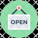 Open Shop Signboard Icon