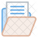 Open Folder Document Icon
