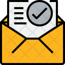 Open Mail Check Icon