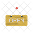 Open Board Hanging Icon