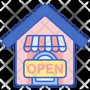 Open Board Open Shop Open Store Icon