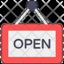 Open Board Hanging Board Shop Board Icon