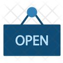 Open Sign Seller Shop Store Icon