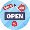 Black Friday Open Tag Sale Tag Icon