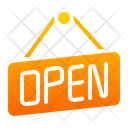 Open Board Open Sign Icon