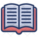 Open Book Textbook Rule Book Icon