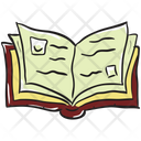 Open Book Textbook Handbook Icon