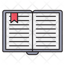 Book Reading Bookmark Icon