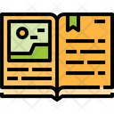 Open Book Reading Education Library Icon