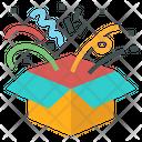 Open Box Surprise Icon