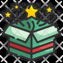 Open Box Gift Stars Icon
