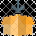 Open Box Down Icon