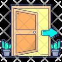 Open Door Entrance Doorway Icon